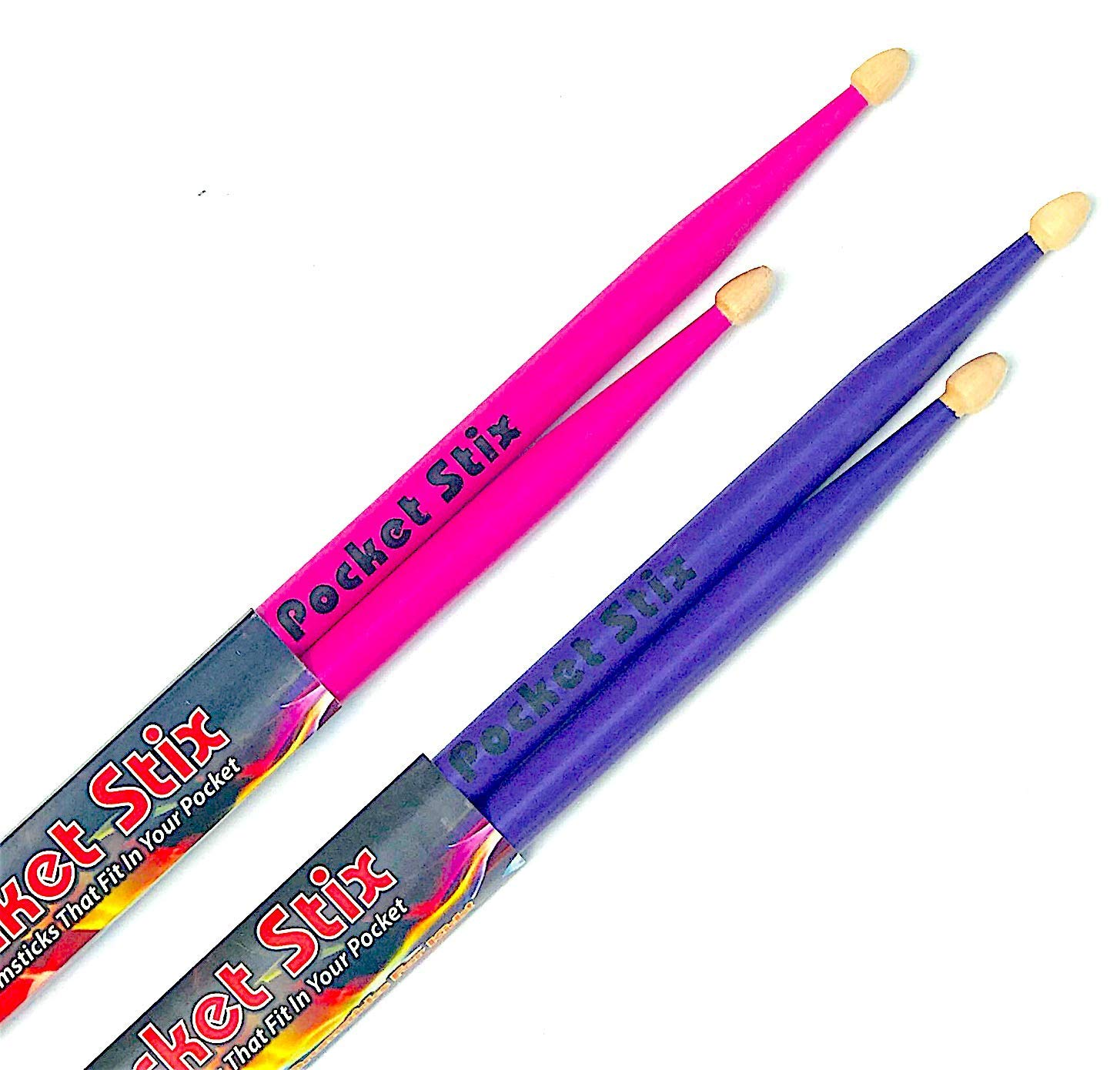 "Pocket Stix Bundle: 11"" Passion Pink and 11"" Wild Purple Drumsticks For Kids"