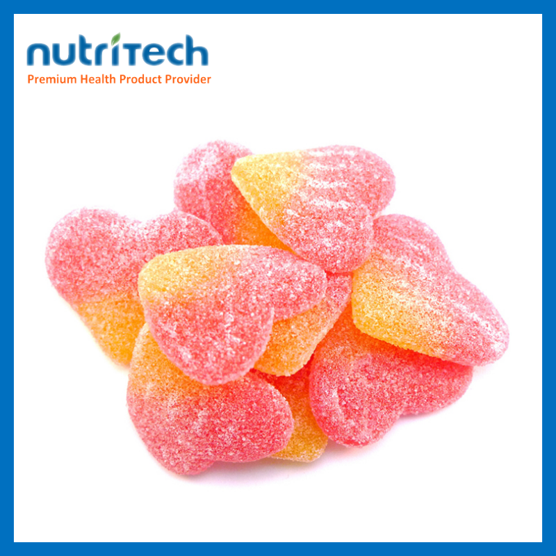 Fruit Flavor Productions Sleeping well Sweets Heart Shape Gummy Candy
