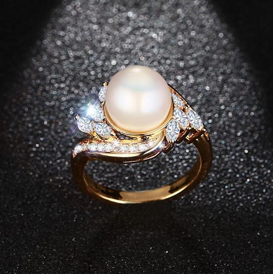 China gold wedding rings boys rings fashion ocean opal jewelry