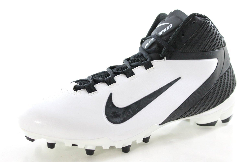 Nike Mens Alpha Speed TD Football Cleats White/Black Mens