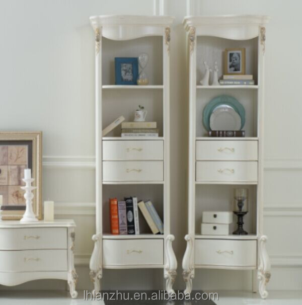 Classical Style Wooden Hand Carved Bookcase Lz1229a-w3