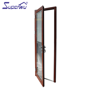 Interior wooden aluminum bathroom doors with blind shutter
