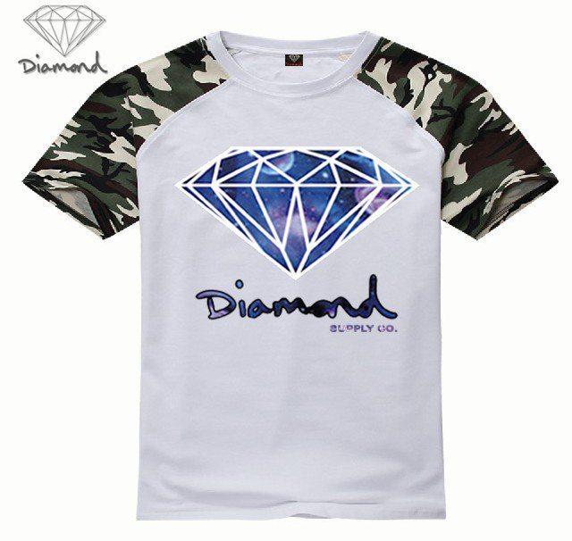 d89f54226069 Get Quotations · diamond supply co men t shirt 100% cotton t-shirt men  tshirt hip hop
