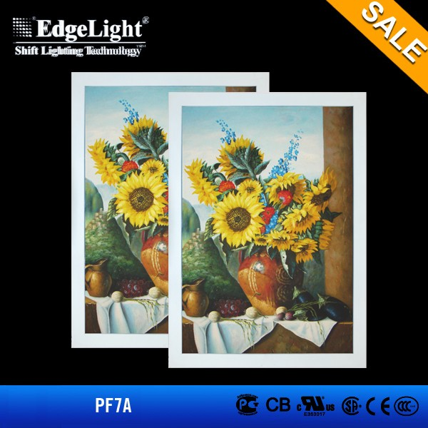A4 size ps led light picture frame for poster and landscape hanging display
