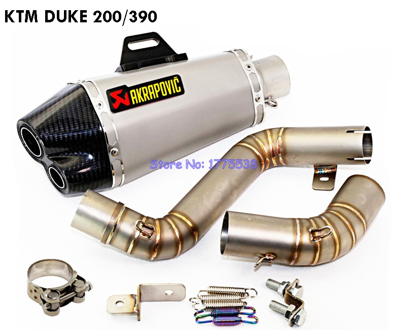 motorcycle ktm duke 200 390 exhaust pipe muffler modified. Black Bedroom Furniture Sets. Home Design Ideas