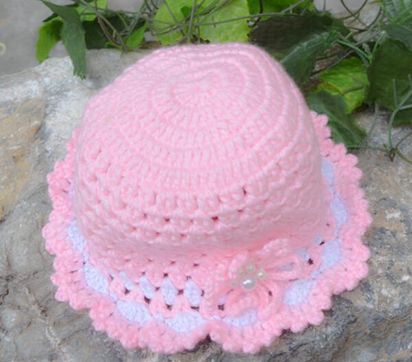 Flor Cor-de-rosa Fantasia Bebê T Crochê Chapéu - Buy Chapéu De ... c30e875a993