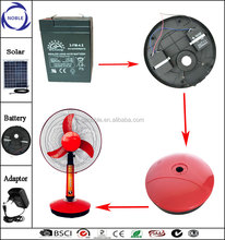 Newest model 16inch/18inch solar ac/dc 12v rechargeable protable fan