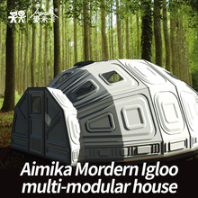2017 New China supplier OEM Modern igloo camping caravan expandable container house prefab house shanghai manufacture