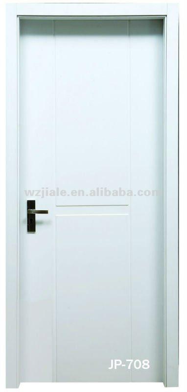 pvc blanc flush porte en bois modles de chambre conception - Modele Porte Chambre