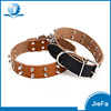 Pet Products Accessories Rivet Spiked Studded Genuine Leather Dog Collar