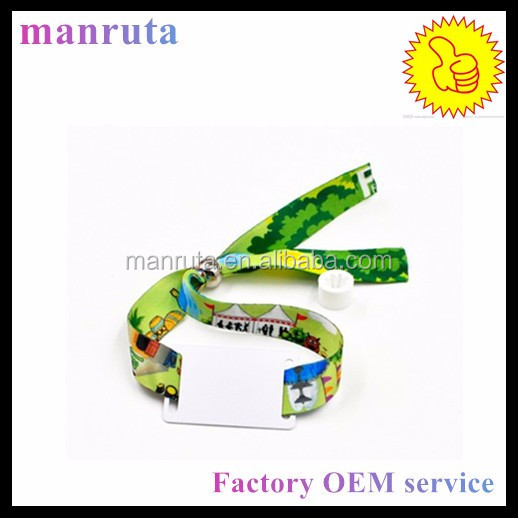 RFID fabric one time use festival wristband OEM service