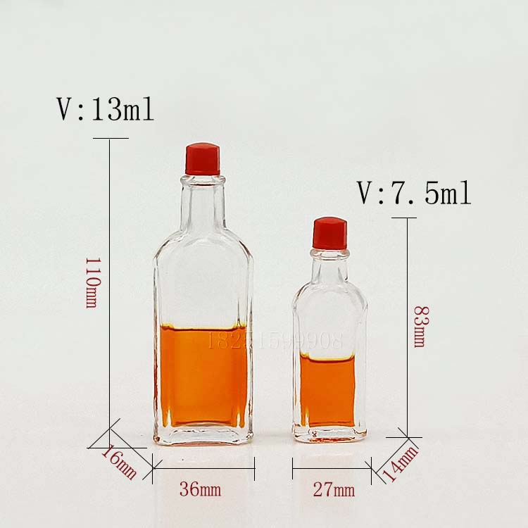 Small Mouth Safflower Oil Glass Bottle Wind Medicated Oil Bottle For Health With Small Black Cap