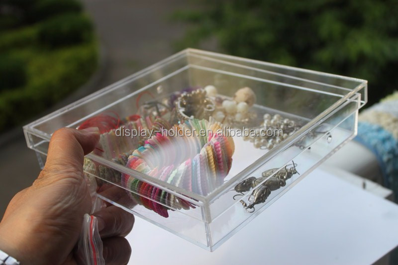 Chinese factory custom made clear acrylic plexiglass display case with lid