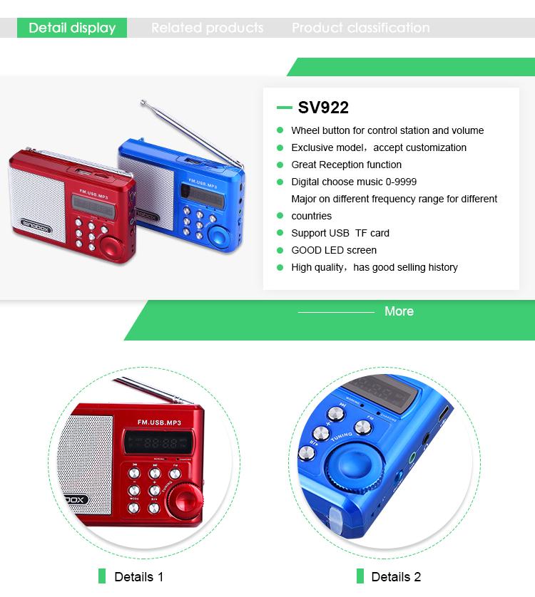 Latest Technology Portable Shortwave Radio Portable Internet