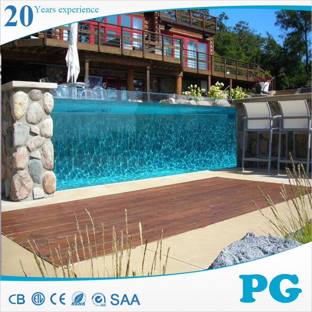 Pg high standard clear acrylic plexiglass for swimming for Buy swimming pool
