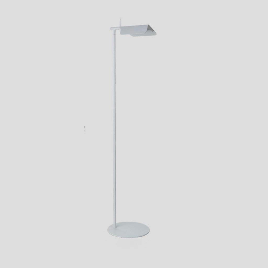 "Single Stem LED Floor Lamp, Iron Lamp Holder, Height 56.94"", Living Room Sofa Bedroom Study Creative Long Arm Vertical Floor Lamp (Color : A)"