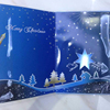 2018 voice recordable Musical Marry Christmas Greeting Card With fiber optic LED Lights