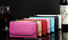 PU Leather Wallet Phone Case Pounch Bag with Chain for Samsung Galaxy S3 Phone Case