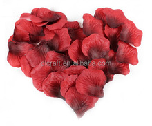 High Quality Simulation Rose Flower Red Silk Rose Petals for Wedding Party Decoration
