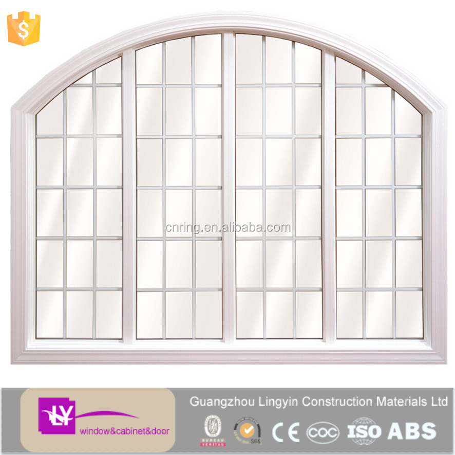 Modern Arch-shaped Pvc Fixed Window With Grill Design Picture Hot ...