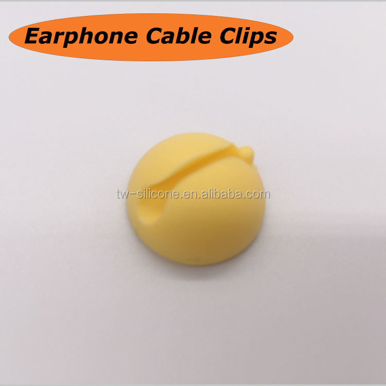 New Design Silicone Cable Clips Earphone Wire Collect Clips