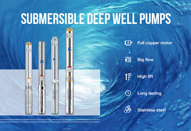 3SDM1/8-38 Stainless Steel Deep Well Pumps Water Centrifugal Borehole Submersible Pump