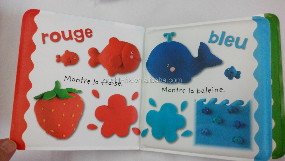 foam pvc color change bath book / promotional bath book toys for children