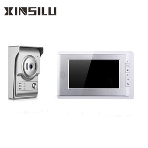 7 inch villa wired doorbell video door phone intercom system with chime