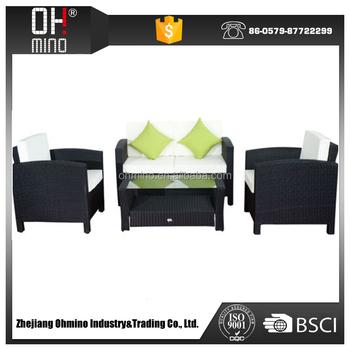 Encima De Gama Alta Blanco Muebles De Patio Al Aire Libre Polyrattan ...