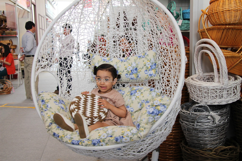 Egg Shape New Year Handmade Chair With Natural Rattan And Bamboo Single  Swing Chair Hanging