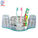 Wholesale metal bathroom toothbrush rack toothbrush holder with three cup
