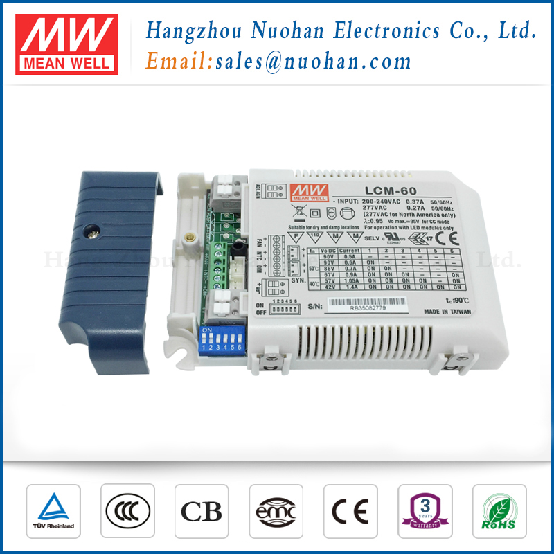 Meanwell LCM-60 900ma led dali dimming driver 60w led dimmable driver