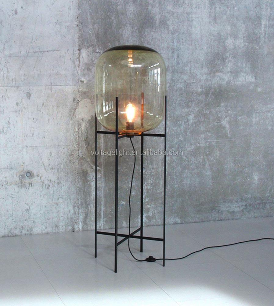 Decorative Glass Floor Lamp Oda Big Floor Standing Lamp