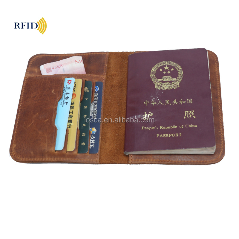 Multifunction Rfid passport holder with card slot wholesale Rfid blocking passport travel <strong>wallet</strong>