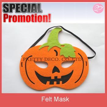 felt pumpkin shaped halloween mask