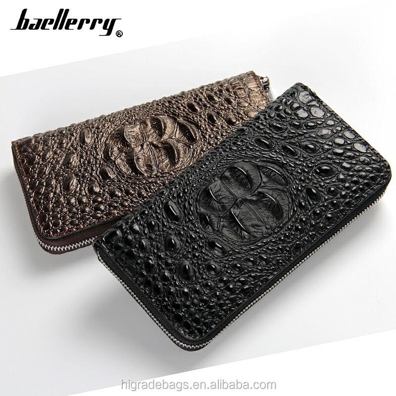 2016 new designs of skull leather wallet baellerry