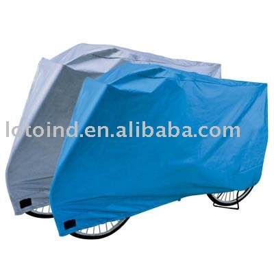 polyester silver coated bike cover