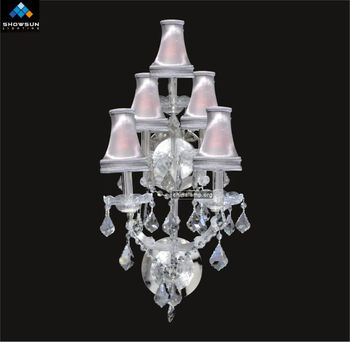 Crystal Wall Lamp Shades : 5 Lights Lamp Shades Wall Sconces - Buy Lamp Shades Wall Sconces,Crystal Wall Lamp,2013 Modern ...