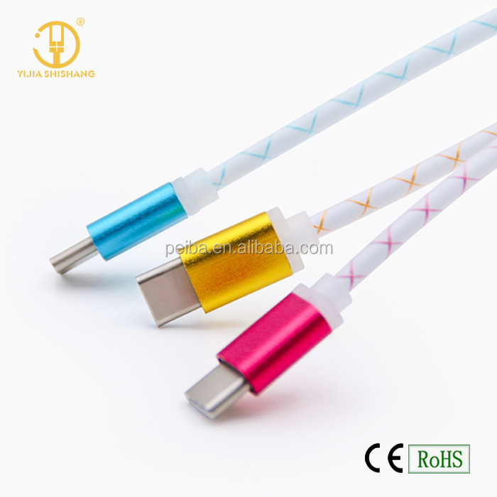 2016 BEST STYLISH usb Type C cable USB Data Sync Charge type-c Cable for Charging
