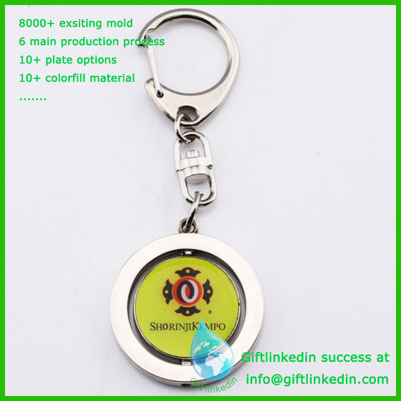 Dental mirror key chain