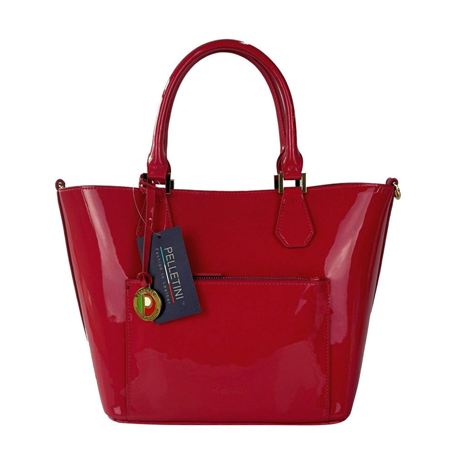 Get Quotations Pelletini 2 In 1 Real Patent Leather Handbag Two Shoulder Handbags One