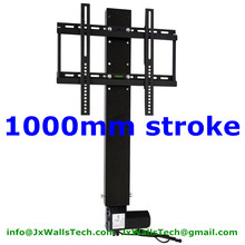 TV lift mechanism TV stands system 1000MM stroke with remote and mounting brackets for 26-60inch TV Quiet noise