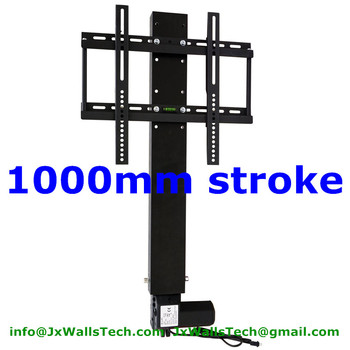 tv lift mechanism tv stands system 1000mm stroke with remote and mounting brackets for 26