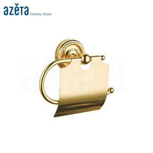 Luxury Bathroom Brass Golden Toilet Paper Roll Holder
