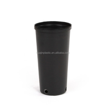 Not Coated High 1 Gallon Black Pe Plastic Tall Nursery Flower Planters Pots