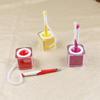 Multi color Plastic Counter ballpoint Pen with Adhesive cube Base and Cord for bank office