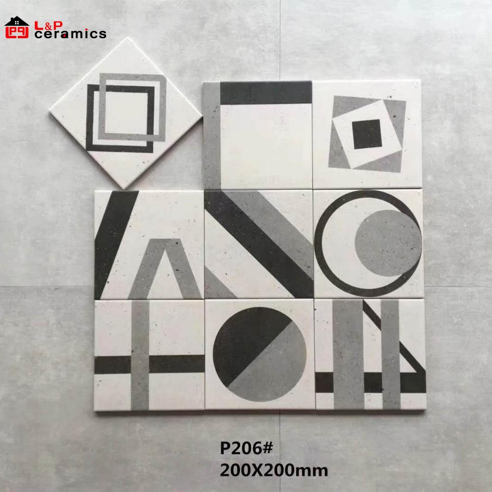 200x200 Random patterns decorative ceramic tiles for floor and wall