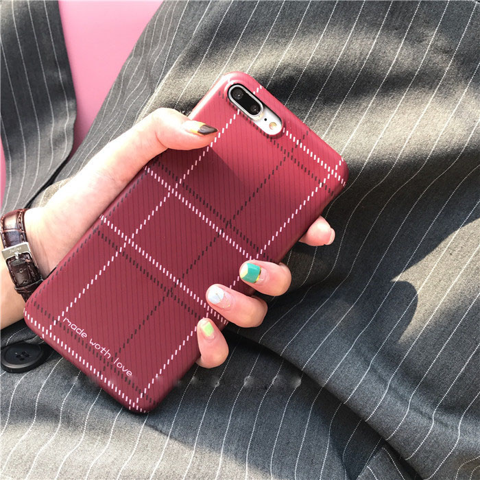 Simple Fresh Lattice TPU phone case for iPhone 7 7plus 6 6plus
