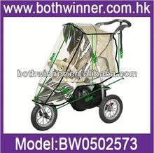 AS034 Transparent raincover baby stroller 3-in-1