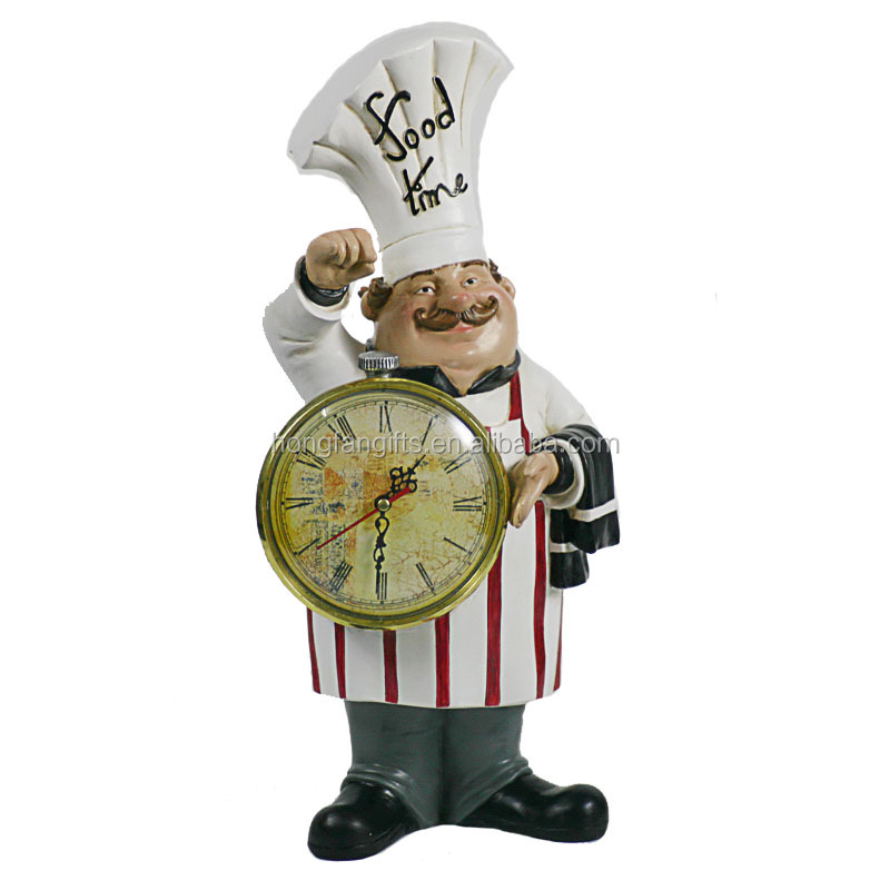 Super Decorative Small Polyresin Kitchen Chef Statue With A Clock Buy Decorative Kitchen Chef Polyresin Chef With Clock Kitchen Chef Statue Product On Home Interior And Landscaping Transignezvosmurscom